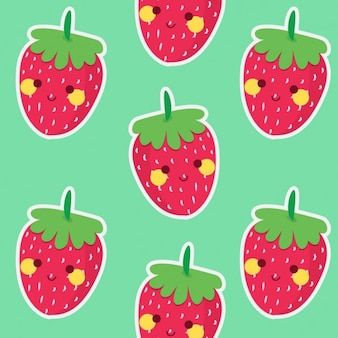 Coloured strawberries pattern