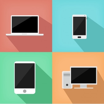 Coloured technological objects design