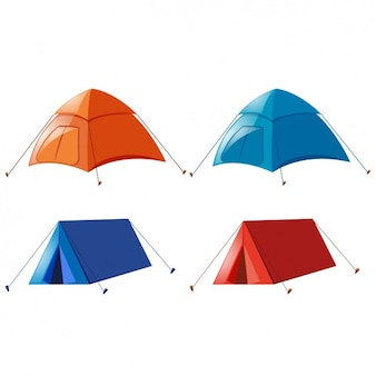 Coloured tents collection