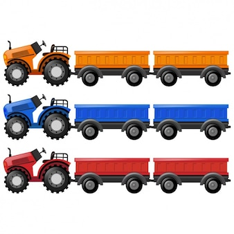 Coloured tractors collection