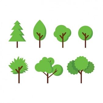 Коллекция цветное деревьев