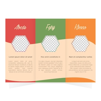 Coloured trifold template