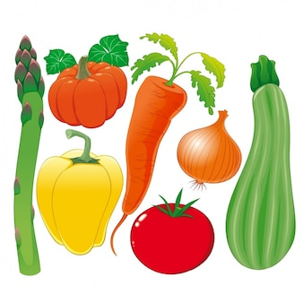 Coloured vegetables collection