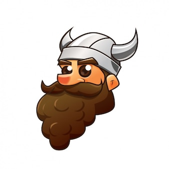 Coloured viking design