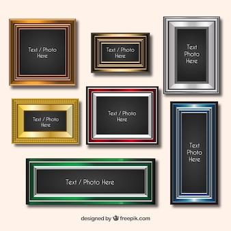 Coloured vintage frames