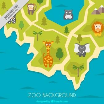 色とりどりの動物園の背景