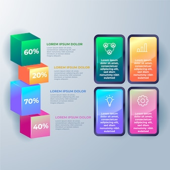 Colourful 3d glossy infographic