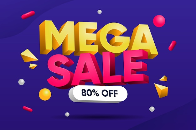 Colourful 3d sales background