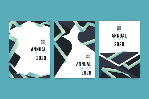 Colourful abstract annual report 2020