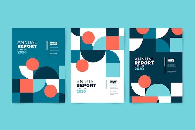 Colourful abstract annual report template