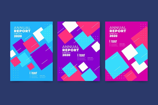 Colourful abstract annual report