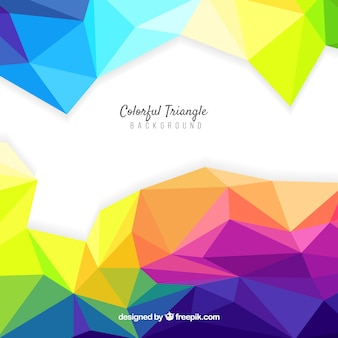 Colourful abstract background with triangles