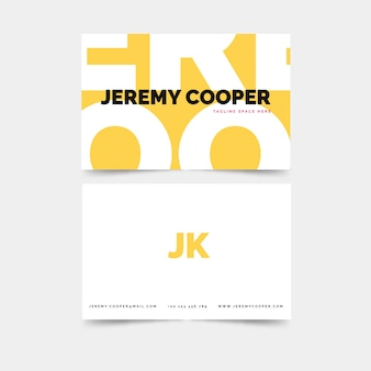 Colourful abstract business card template