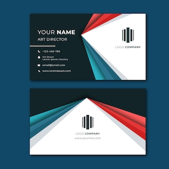Colourful abstract business card