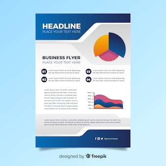 Colourful abstract business flyer template