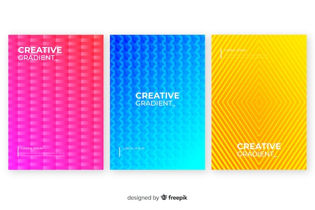 Colourful abstract cover collection