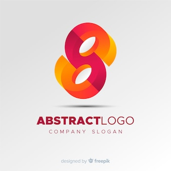 Colourful abstract logo template