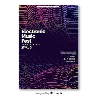 Красочный абстрактный музыкальный плакат шаблон