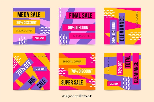 Colourful abstract sale instagram post collection