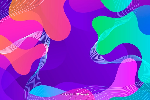 Colourful abstract shadows liquid background