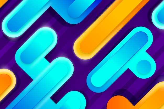 Colourful abstract shapes background