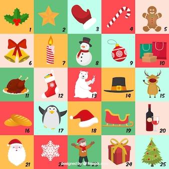 Colourful advent calendar