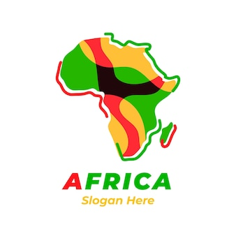 Colourful africa map logo with slogan placeholder