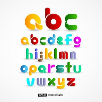 Colourful alphabet