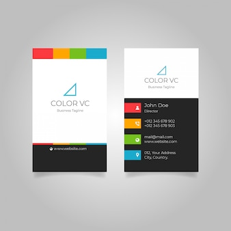Colourful background vertical business card