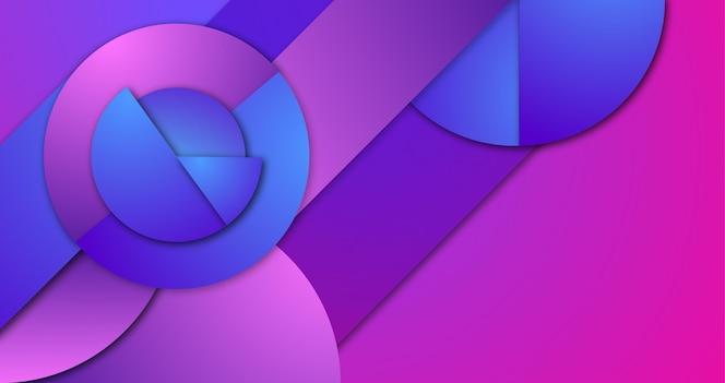 彩色背景与几何形状