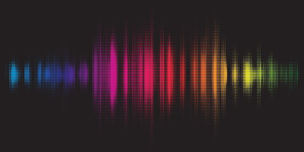 Colourful background with graphic equaliser design