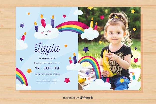 Colourful birthday invitation template