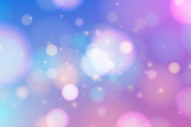 Colourful bokeh effect background