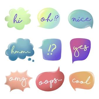 Colourful bubble quote vector