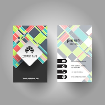 Colourful business card design