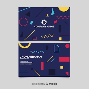 Colourful business card template