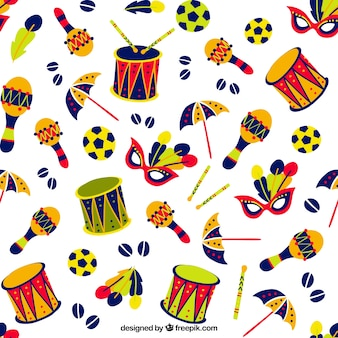 Colourful carnival things pattern