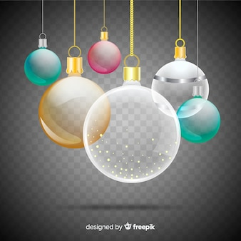 Colourful christmas in transparent background