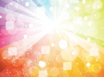 Colourful circles star burs backround vector