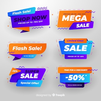 Colourful collection of abstract sale banners