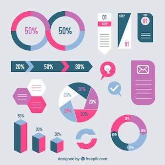 Infographic 요소의 화려한 컬렉션
