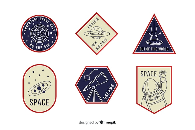 Colourful collection of space stickers