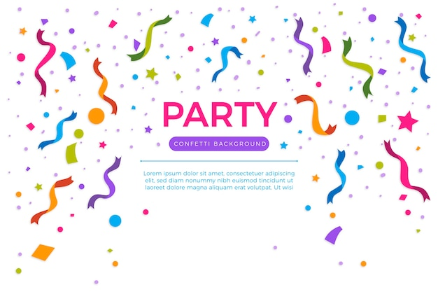 Colourful confetti annual birthday background