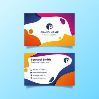 Дизайн красочных пышных форм для визитной карточки