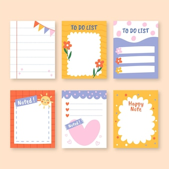 Colourful design of scrapbook and notes