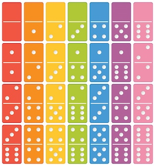Colourful domino set element