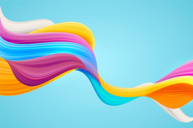 Colourful dynamic flow background