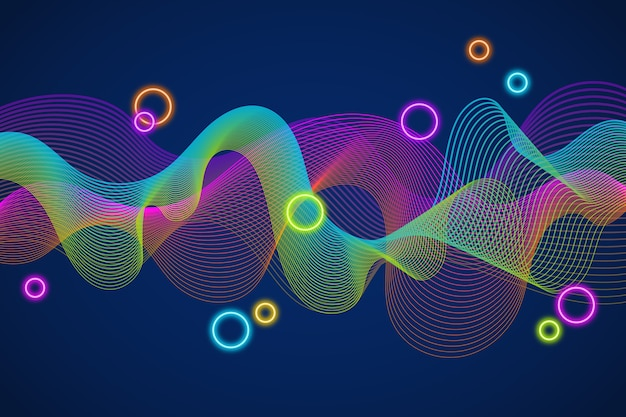 Colourful equalizer wave background