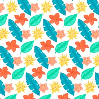 Colourful exotic floral pattern