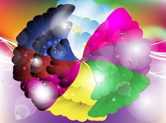 Colourful floral art vector design